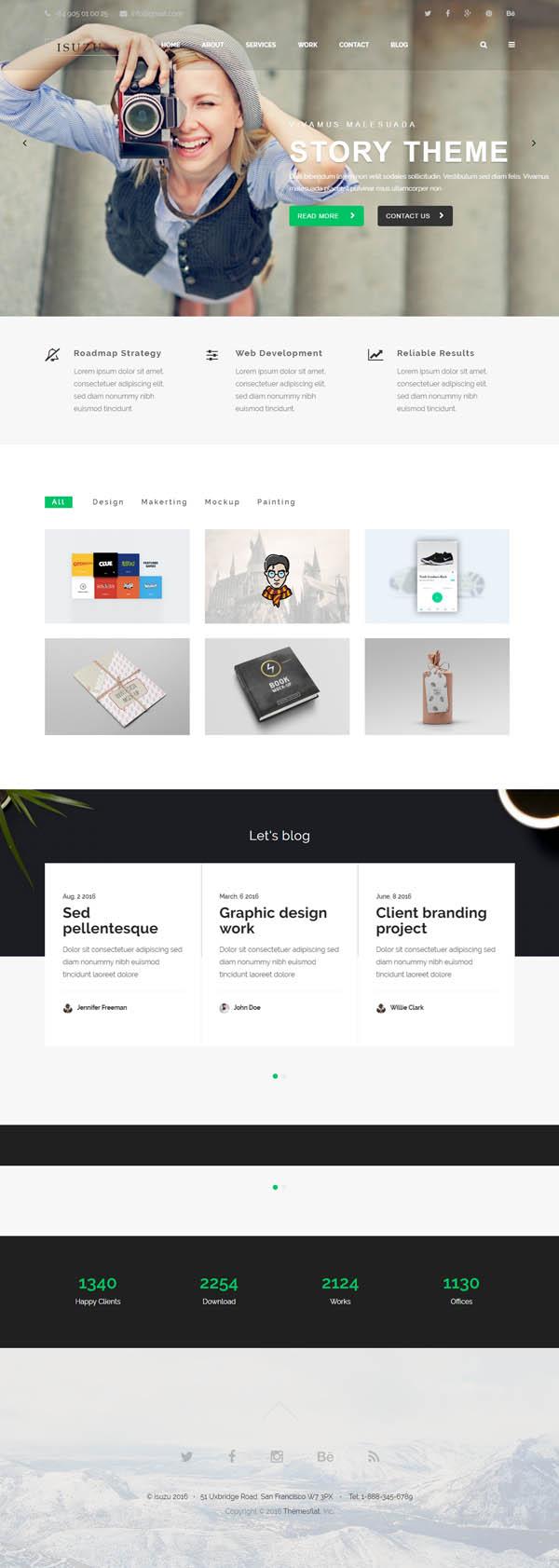 Isuzu – Creative HTML Template
