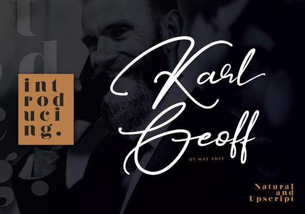 Karl Geoff Handwritten Script Free Font