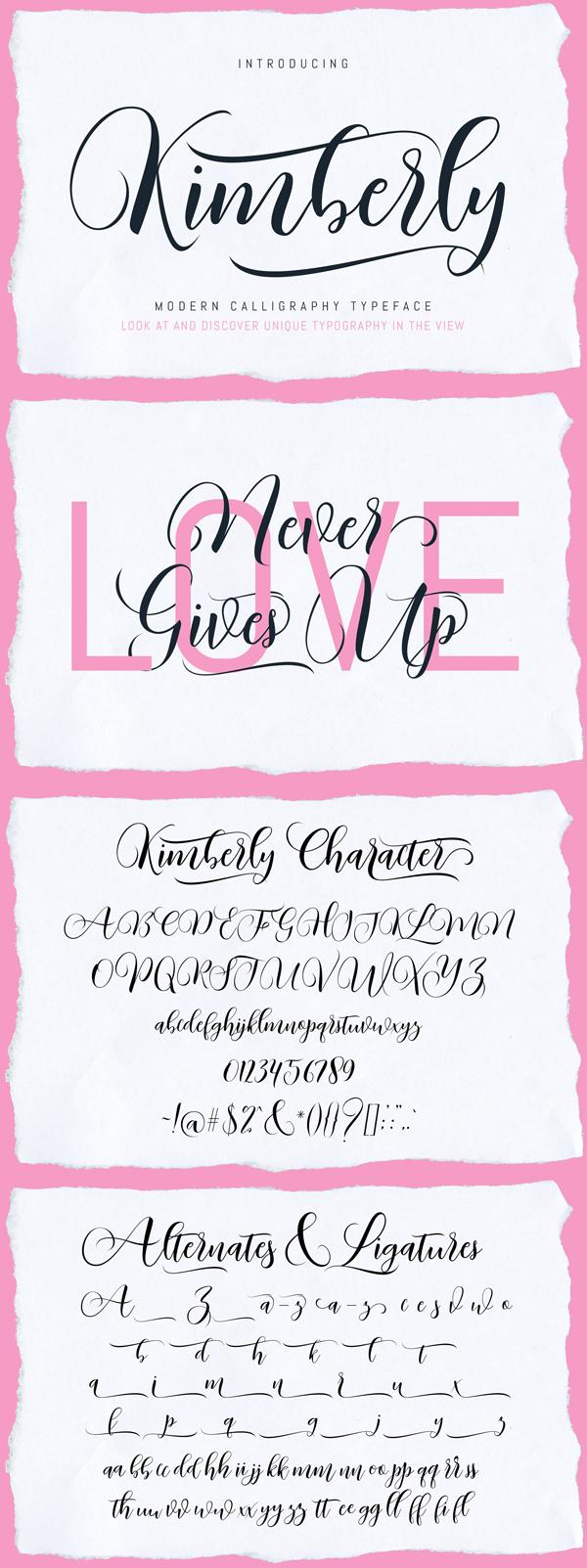 Kimberly - Luxury Script Font