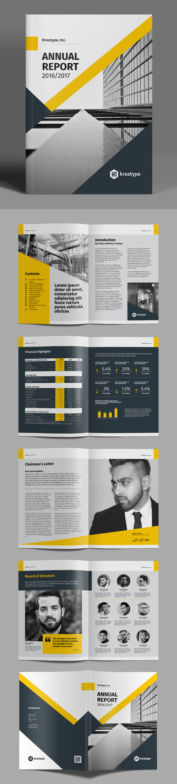 100 Professional Corporate Brochure Templates - 15