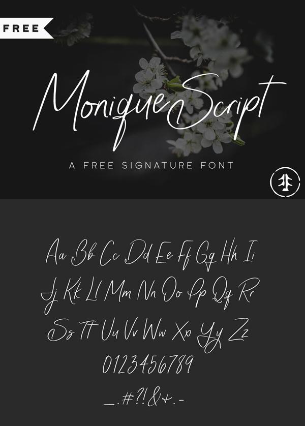 Monique Free Script Font