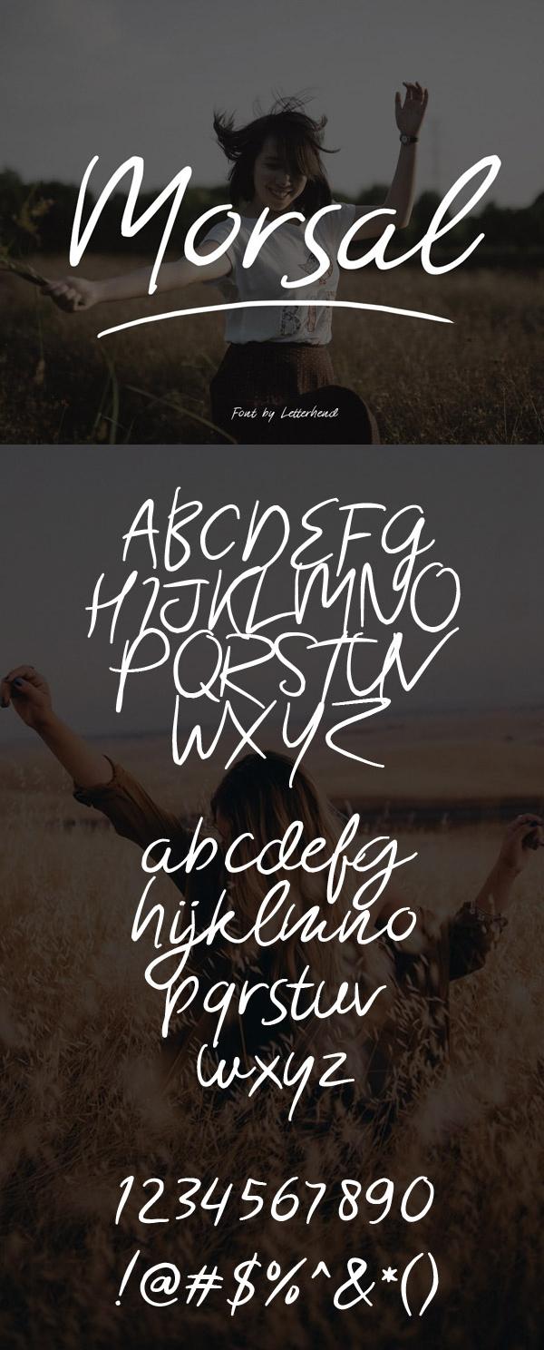 Morsal Free Script Font