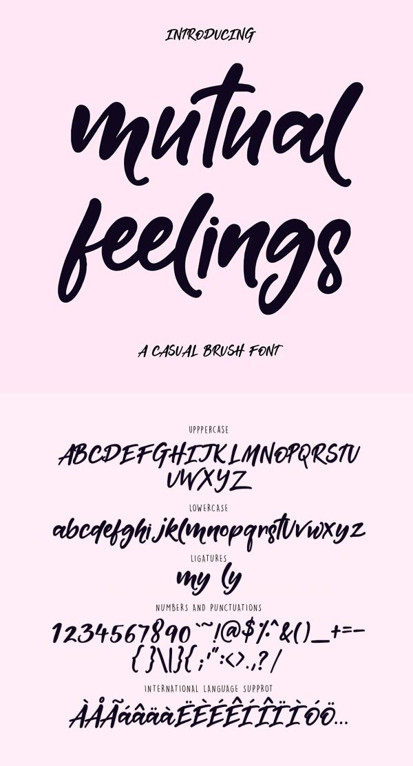Mutual Feelings Free Brush Script Font
