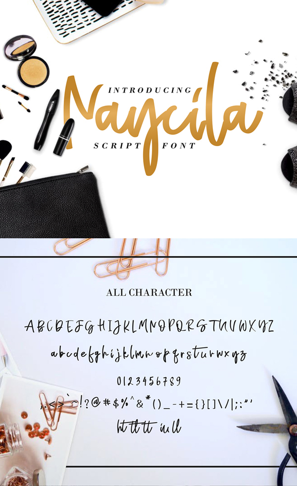 Naycila Free Script Font