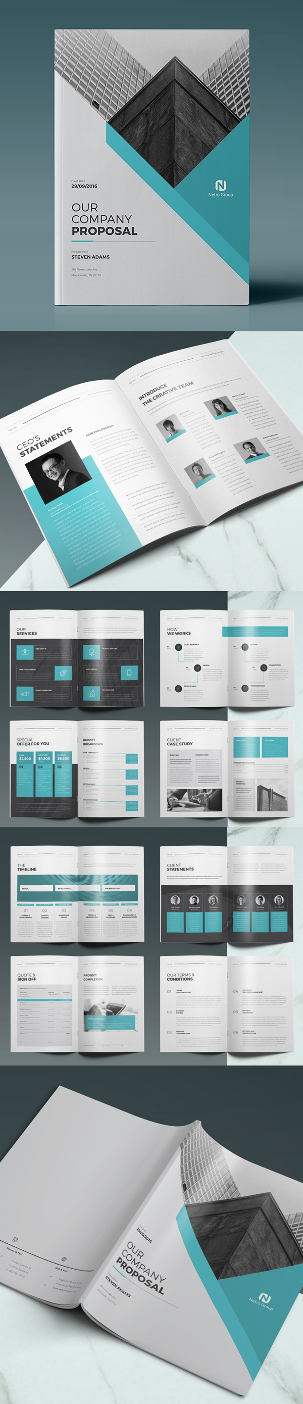 100 Professional Corporate Brochure Templates - 4