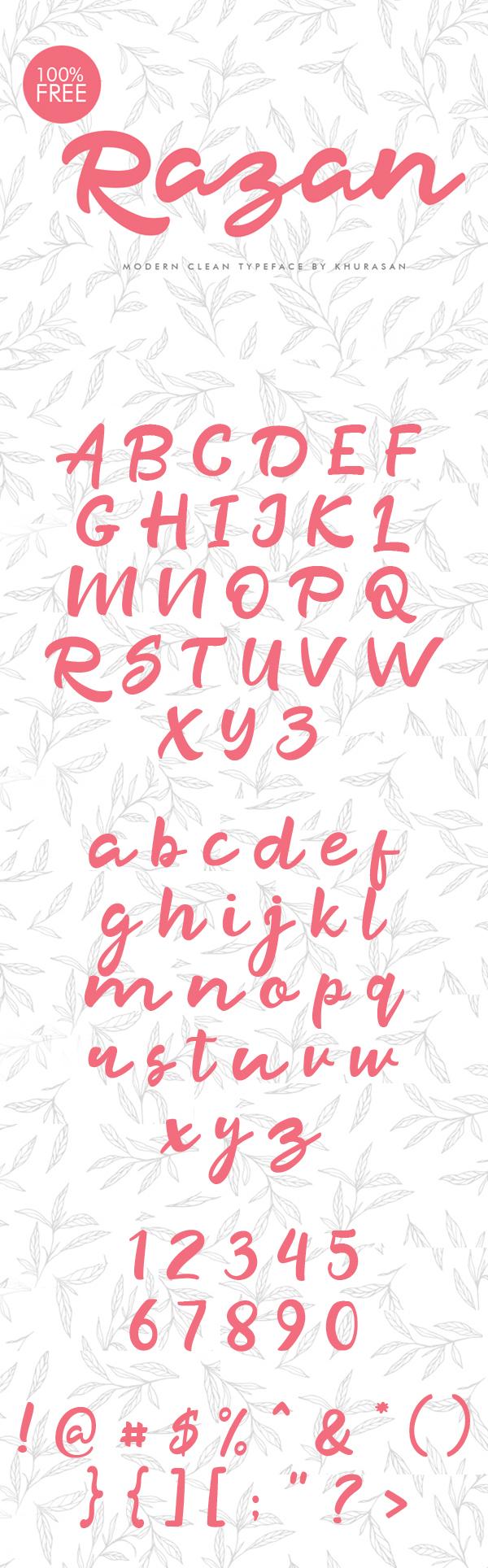 Razan Free Script Font