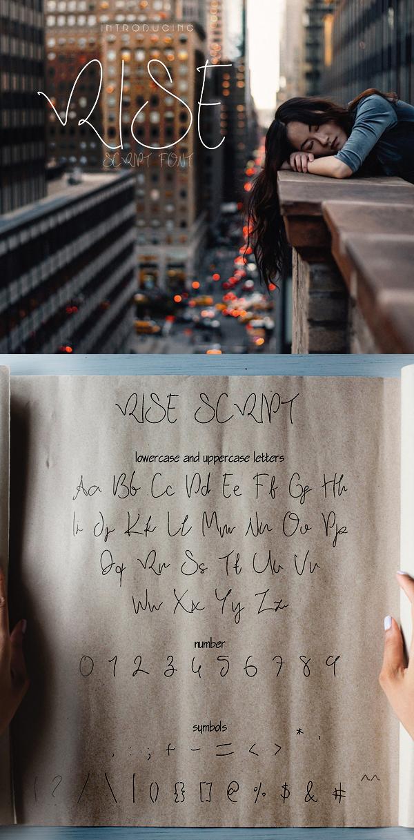Rise Free Script Font