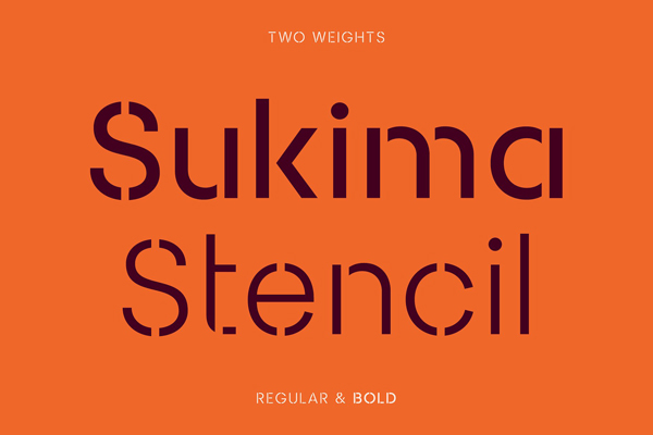 Sukima Stencil Free Font
