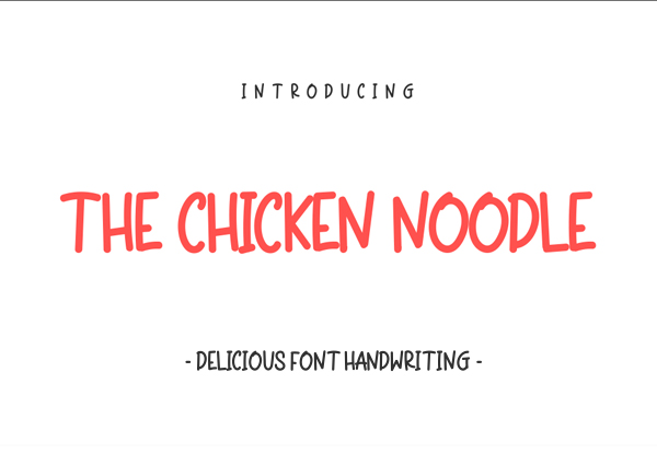 The Chicken Noodle Free Font