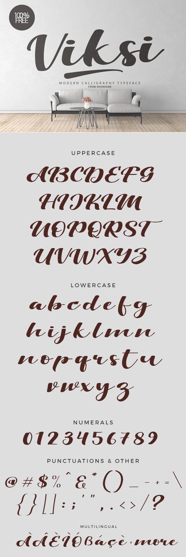 Viksi Free Script Font