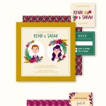 Free Download: Hand Drawn Wedding Stationery Vectors