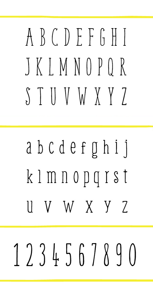 Wee Font Letters