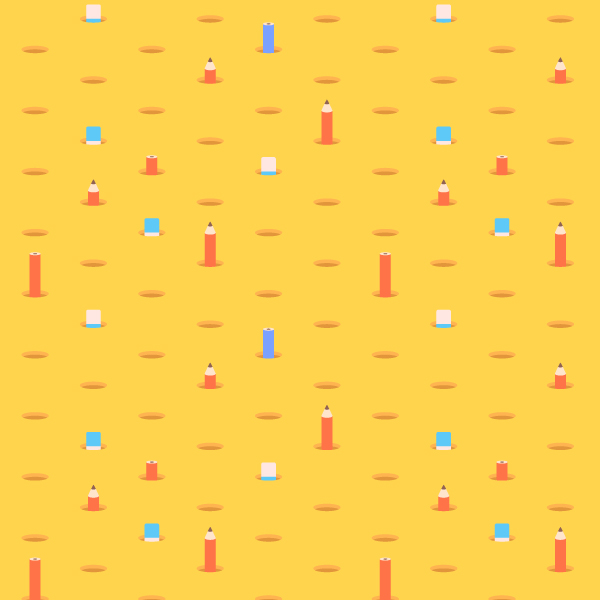 How to Create a Pencil-Themed Seamless Pattern in Adobe Illustrator
