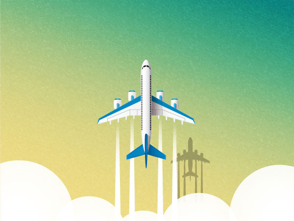 Airplane Illustration Vector Background