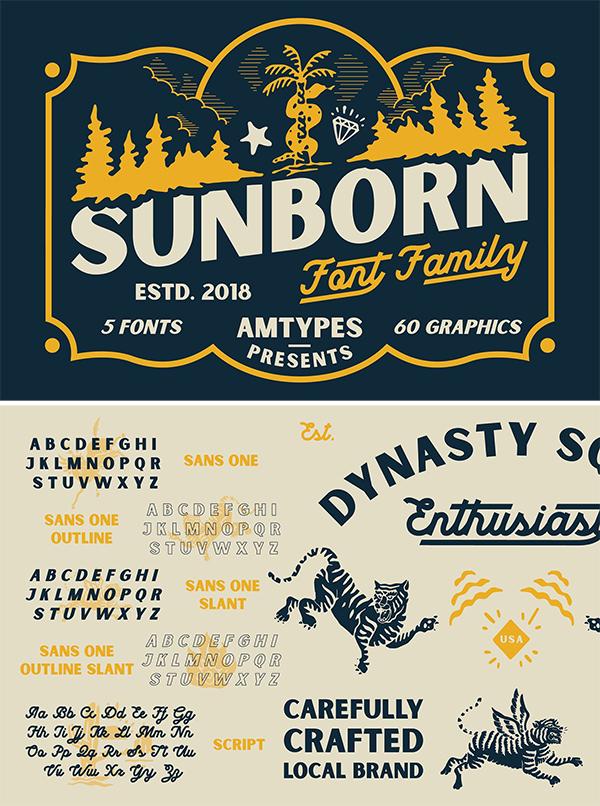 Sunborn Font Family