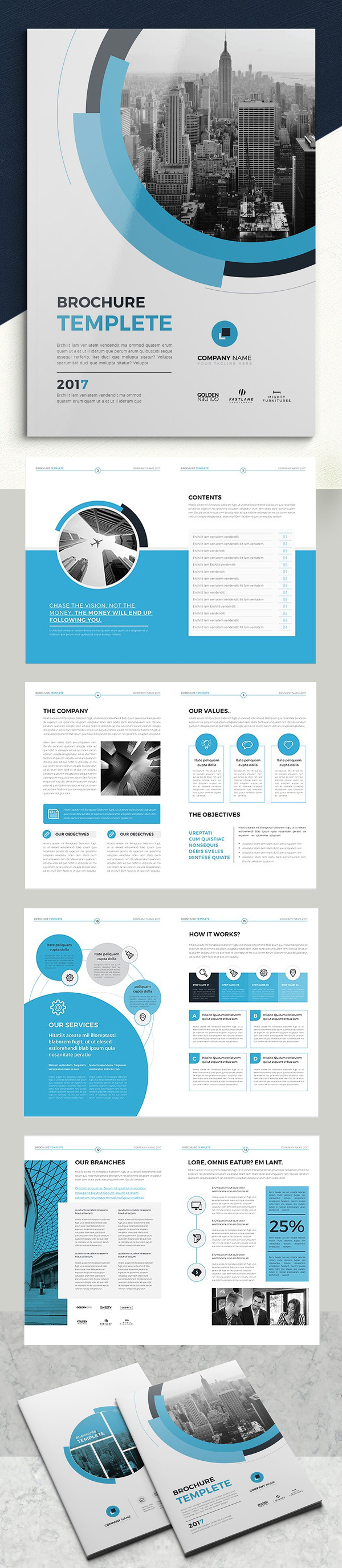 100 Professional Corporate Brochure Templates - 35