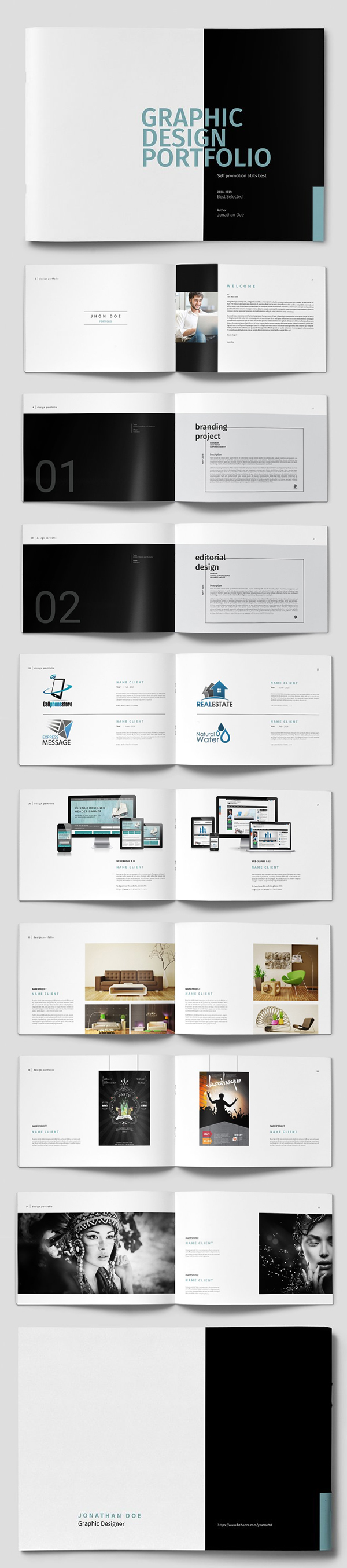 100 Professional Corporate Brochure Templates - 45