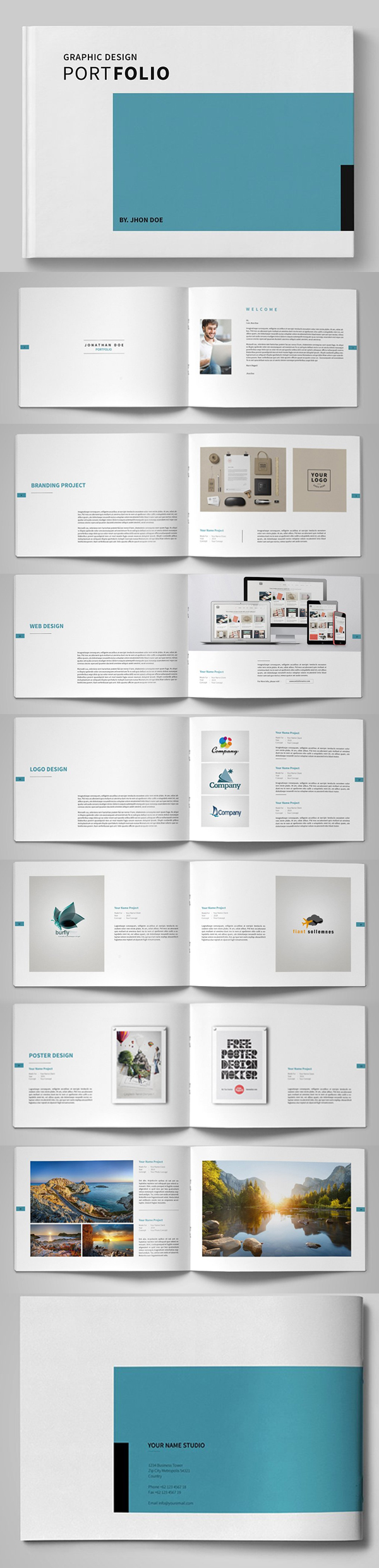 100 Professional Corporate Brochure Templates - 36