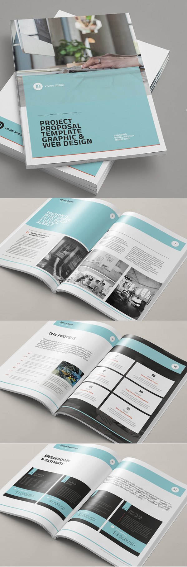 100 Professional Corporate Brochure Templates - 30
