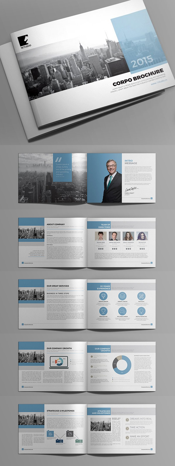 100 Professional Corporate Brochure Templates - 18