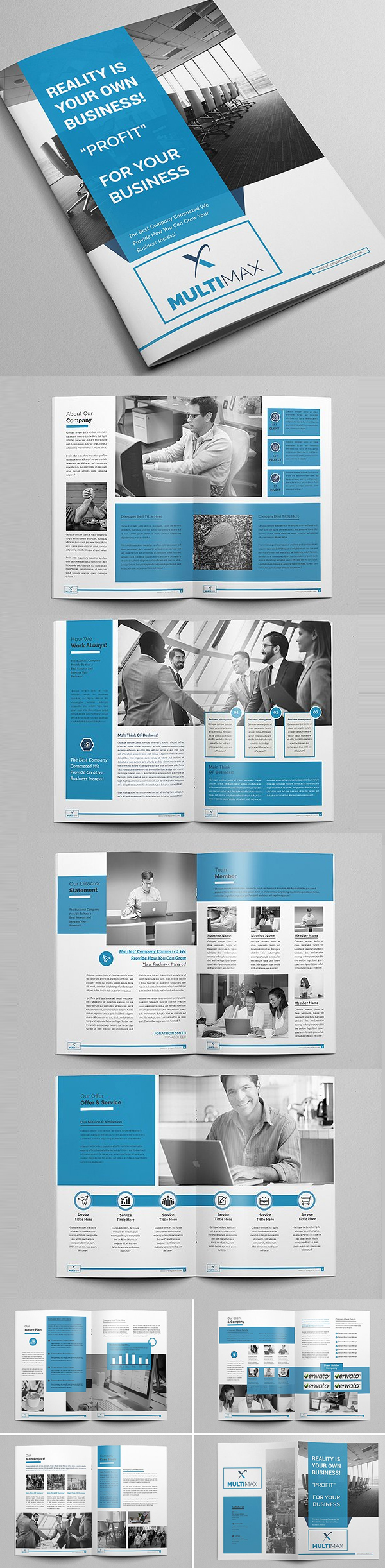 100 Professional Corporate Brochure Templates - 22