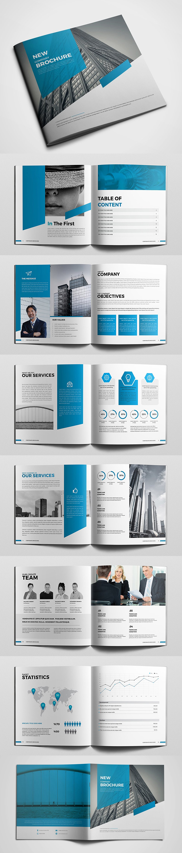 100 Professional Corporate Brochure Templates - 57