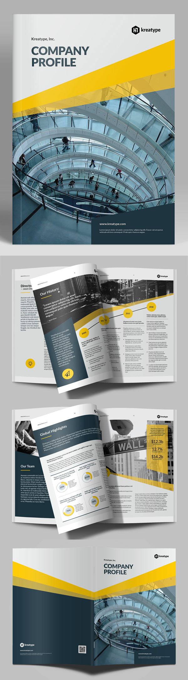 100 Professional Corporate Brochure Templates - 63
