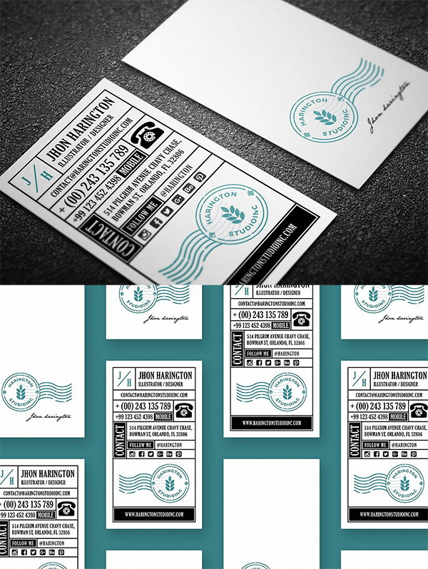 Studio Retro Business Card Template