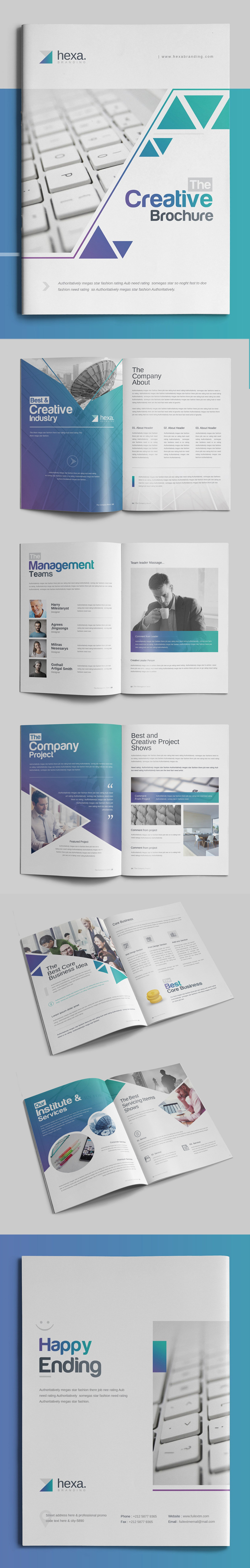 100 Professional Corporate Brochure Templates - 50