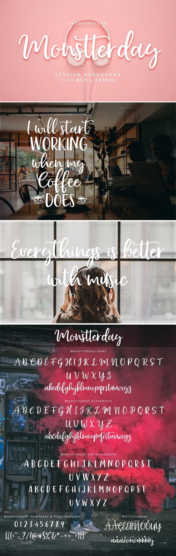 Monstterday Script Font