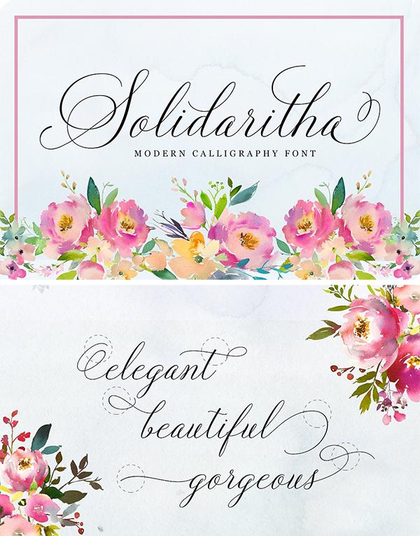 Solidaritha Script Font