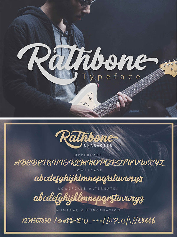 RATHBONE script Font