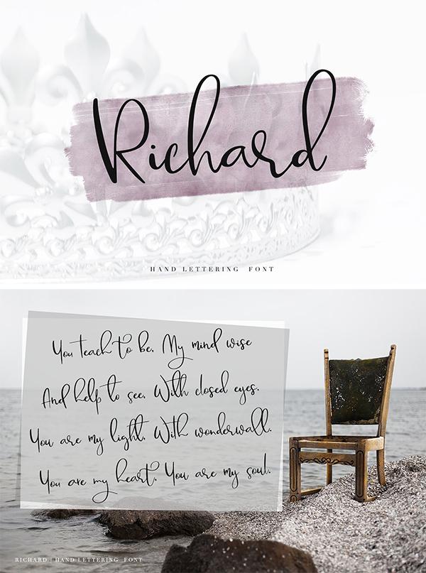 Richard script Font