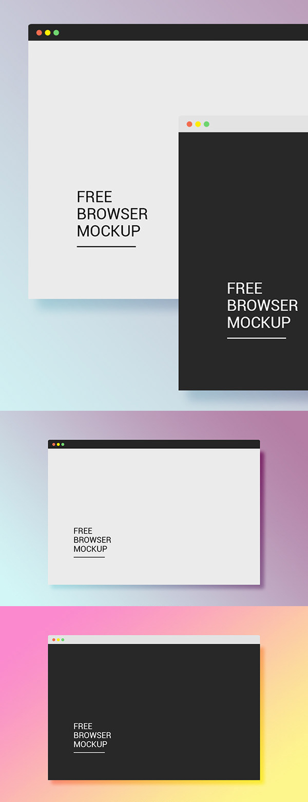 Free Mac Browser Mockup PSD