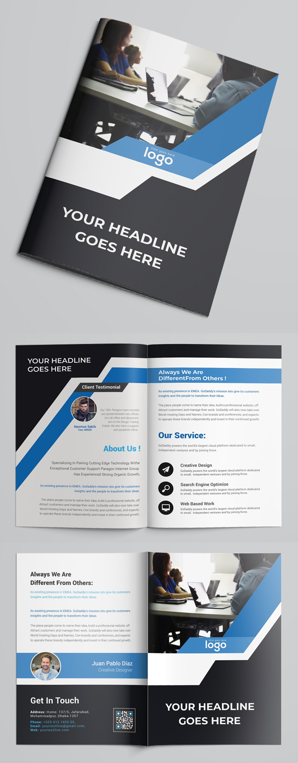 100 Professional Corporate Brochure Templates - 74