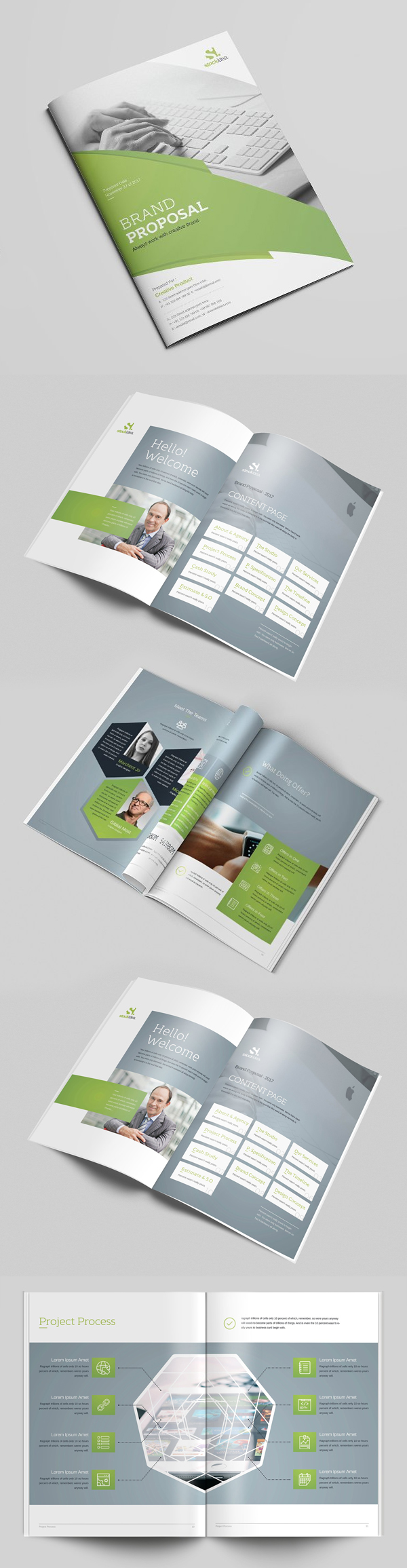 100 Professional Corporate Brochure Templates - 75