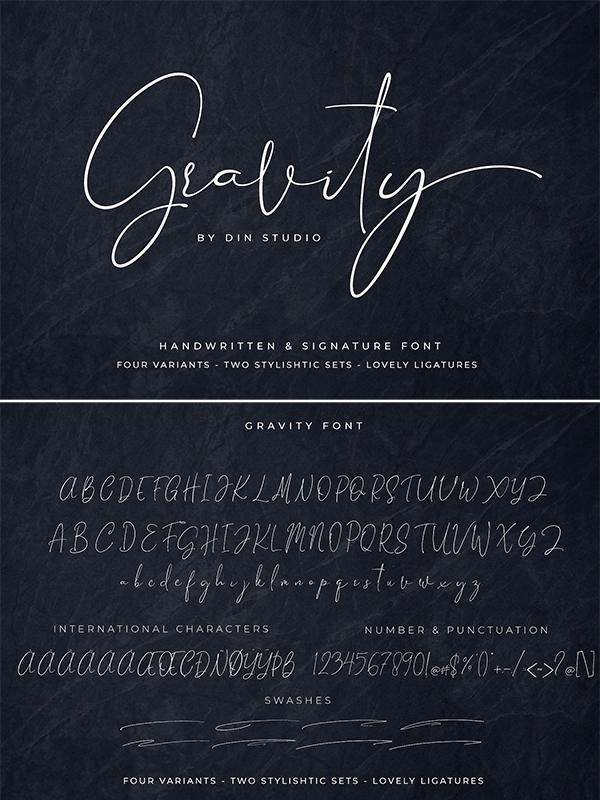 Gravity – Handwritten and Signature