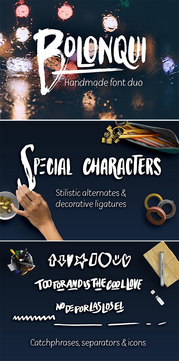 Bolonqui – handmade font