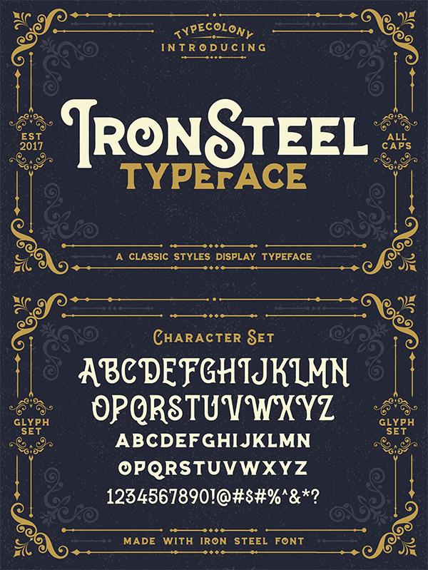 Ironsteel Display Font