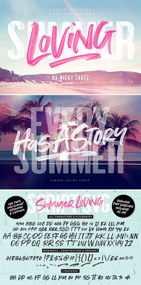 Summer Loving Font Collection