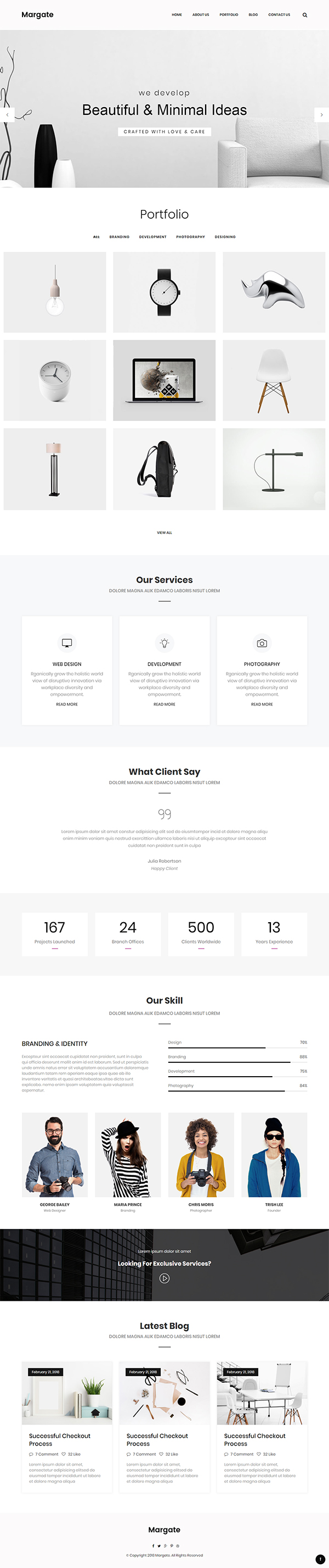 Margate - Minimal Portfolio HTML Template