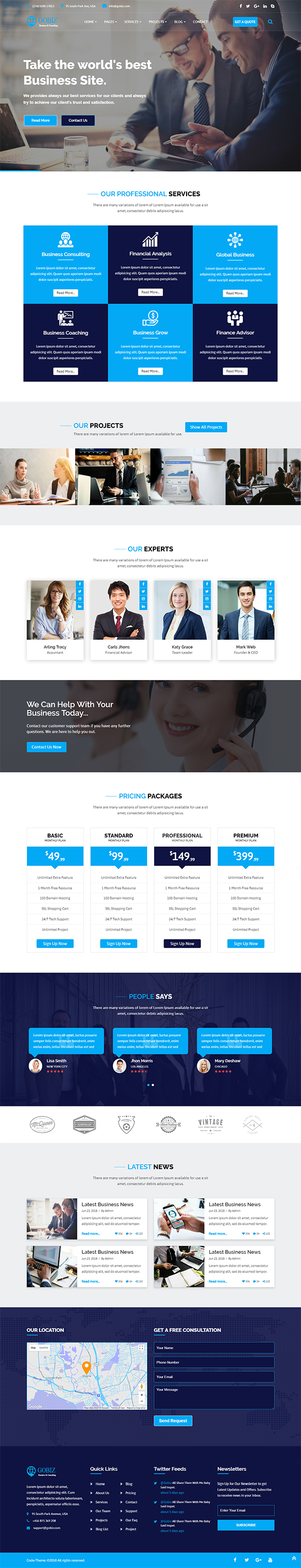 GoBiz – Corporate Business & Consulting Template