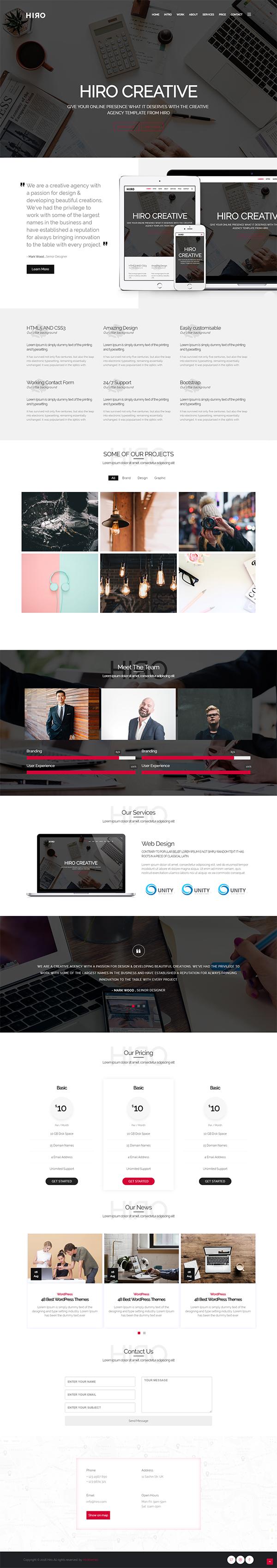 Hiro - Creative agency HTML5 Template