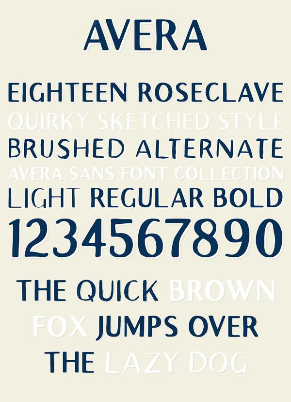 Avera Font Letters