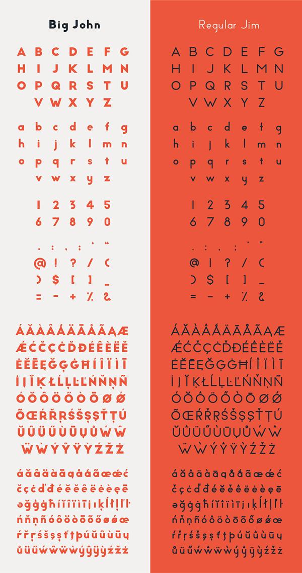 Big John PRO Font Letters