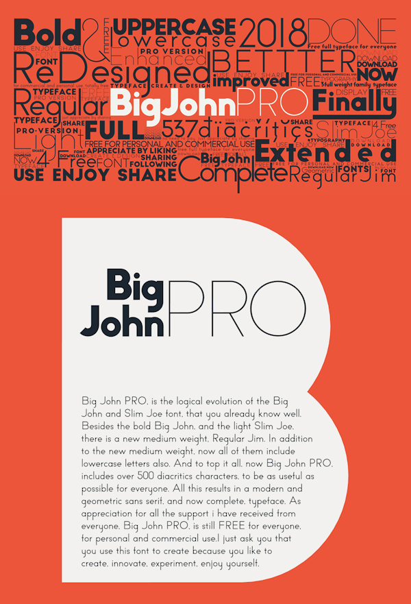 Big John PRO Free Font