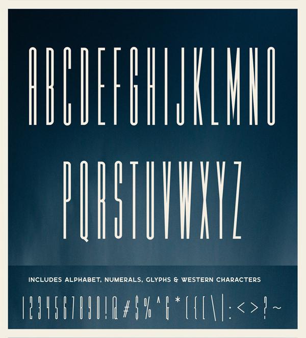 Calibre Super Condensed Font Letters