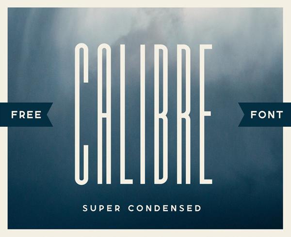 Calibre Super Condensed Free Font