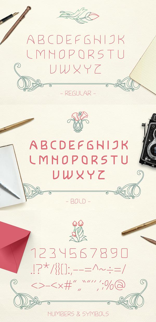 Lokka Font Letters