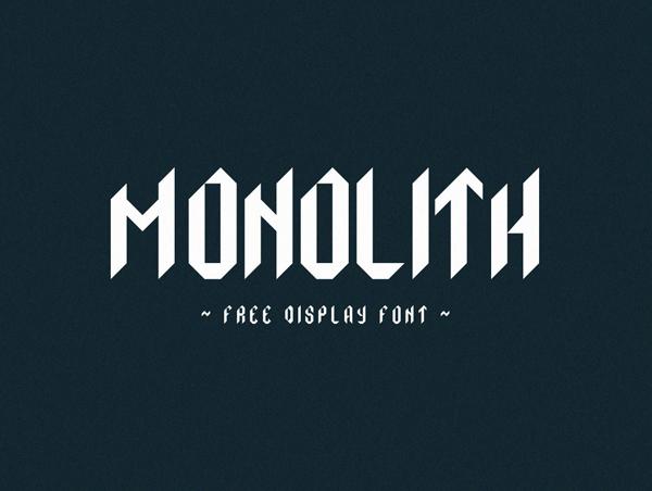 Monolith Free Font